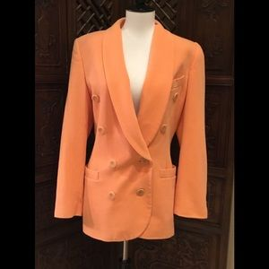🔥 ESCADA DESIGNER JACKET Beautiful Peach color 38